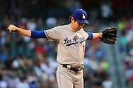 PHOENIX, AZ - JUNE 14:  Kenta Maeda #18 of the Los Angeles Dodgers takes the mound in the first inning of the game against the Arizona Diamondbacks at Chase Field on June 14, 2016 in Phoenix, Arizona. Los Angeles Dodgers won 7-4.  (Photo by Jennifer Stewart/Getty Images)