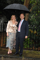 WILLIAM & FFION HAGUE at the annual Sir David & Lady Carina Frost Summer Party in Carlyle Square, London SW3 on 5th July 2007.<br /><br />NON EXCLUSIVE - WORLD RIGHTS