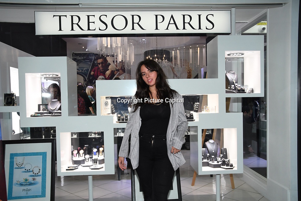 Holly Halkes- Artist arrives at Tresor Paris In2ruders - launch at Tresor Paris, 7 Greville Street, Hatton Garden, London, UK 13th September 2018.