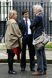 © Licensed to London News Pictures. 01/05/2012. London, UK . Sir Bob Geldof (right) on Downing Street today. Cabinet ministers in Downing Street for the Cabinet Meeting on 1st May 2012. Photo credit : Stephen Simpson/LNP