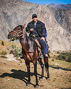 When walking back from the Tajik border we were often met by local horsemen curious to know our news