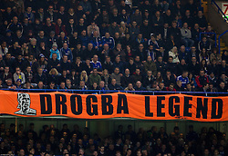 Supporters of Didier Drogba of Chelsea during football match between Chelsea FC and NK Maribor, SLO in Group G of Group Stage of UEFA Champions League 2014/15, on October 21, 2014 in Stamford Bridge Stadium, London, Great Britain. Photo by Vid Ponikvar / Sportida.com
