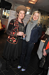 Left to right, SILVY WEATHERALL and LADY HELEN TAYLOR at a ladies lunch in support of Maggie's Barts hosted by Judy Naake, Clara Weatherall and Caroline Collins at Le Cafe Anglais, 8 Porchester Gardens, London W2 on 19th March 2013.