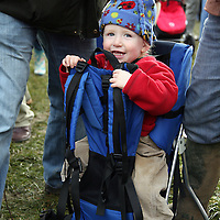 Oisin Keegan enjoying his day at the annual point to point meeting at Belhabour on Sunday.<br /><br />Photograph by Yvonne Vaughan.