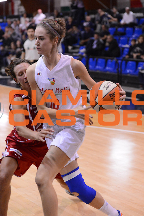 DESCRIZIONE : Roma Basket Campionato Italiano Femminile serie B 2012-2013<br />  College Italia  Gruppo L.P.A. Ariano Irpino<br /> GIOCATORE : Manghi Anna Chiara<br /> CATEGORIA : equilibrio sequenza<br /> SQUADRA : College Italia<br /> EVENTO : College Italia 2012-2013<br /> GARA : College Italia  Gruppo L.P.A. Ariano Irpino<br /> DATA : 03/11/2012<br /> CATEGORIA : palleggio<br /> SPORT : Pallacanestro <br /> AUTORE : Agenzia Ciamillo-Castoria/GiulioCiamillo<br /> Galleria : Fip Nazionali 2012<br /> Fotonotizia : Roma Basket Campionato Italiano Femminile serie B 2012-2013<br />  College Italia  Gruppo L.P.A. Ariano Irpino<br /> Predefinita :