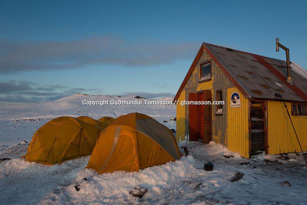 Icelandic Alpine Club hut in Tindfjöll, Iceland.