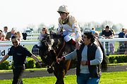 Hareeq ridden by Shane Kelly and trained by Richard Hughes  - Ryan Hiscott/JMP - 19/04/2019 - PR - Bath Racecourse- Bath, England - Race 6 - Good Friday Race Meeting at Bath Racecourse