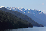 Layers of hills and mountains along Canada's Inside Passage