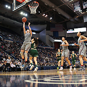 HARTFORD, CONNECTICUT- JANUARY 10:  Katie Lou Samuelson #33 of the Connecticut Huskies drives to the basket defended by Laia Flores #22 of the South Florida Bulls during the the UConn Huskies Vs USF Bulls, NCAA Women's Basketball game on January 10th, 2017 at the XL Center, Hartford, Connecticut. (Photo by Tim Clayton/Corbis via Getty Images)