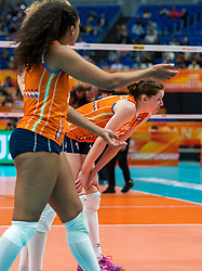 19-10-2018 JPN: Semi Final World Championship Volleyball Women day 20, Yokohama<br /> Serbia - Netherlands / Lonneke Sloetjes #10 of Netherlands
