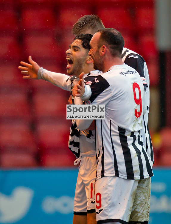 Dunfermline Athletic v Ross County Scottish Cup Season 2015/16 East End Park 09 December 2015<br /> Faissal El Bakhtaoui celebrates with his team mates as he makes it 1-1<br /> CRAIG BROWN | sportPix.org.uk