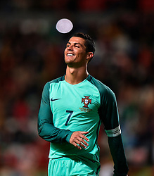 Portugal's Cristiano Ronaldo reacts during a friendly soccer match betweem Portugal and Belgium in preparation for Euro 2016 in France at Leiria Municipal Stadium, Portugal, on March 29, 2016. Portugal won 2-1. EXPA Pictures © 2016, PhotoCredit: EXPA/ Photoshot/ Zhang Liyun<br /> <br /> *****ATTENTION - for AUT, SLO, CRO, SRB, BIH, MAZ, SUI only*****