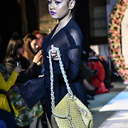 Designer AKANA (New Zealand) showcases its latest collection with Her Excellency HE Hon. Titilupe Fanetupouvava'u Tu'ivakano of Tonga High Commissioner UK attend the London Pacific Fashion Week at one Whitehall, London, UK. 25 Feb 2019.