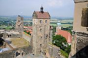 Burg Stolpen, Seigerturm, Sachsen, Deutschland.|.Stolpen castle, Saxony, Germany