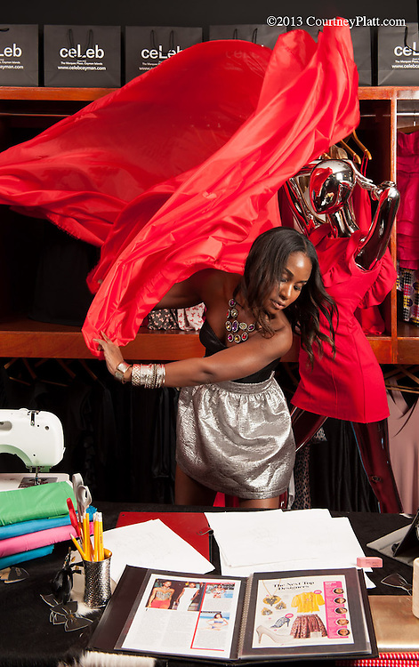 "Tiger Lilly, fashion designer extraordinaire. Shot for Digicel's ""Be Extraordinary"" advertising campaign."