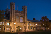 St. Louis Missouri MO USA, night shot of the Washington university in St. Louis Danforth campus October 2006