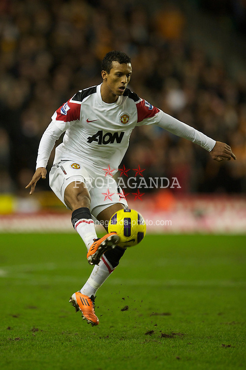 WOLVERHAMPTON, ENGLAND - Saturday, February 5, 2011: Manchester United's Nani in action against Wolverhampton Wanderers during the Premiership match at Molineux. (Photo by David Rawcliffe/Propaganda)