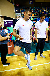 HONG KONG, CHINA - Tuesday, July 18, 2017: Liverpool's Dejan Lovren tries a local keepy-up craze during a Premier League skills kids event at the Macpherson Stadium ahead of the Premier League Asia Trophy 2017. (Pic by David Rawcliffe/Propaganda)