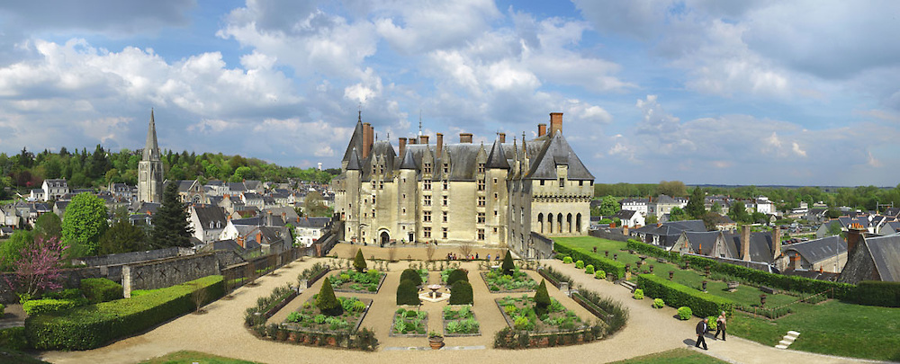 The Chateau de Langeais is a castle in Indre-et-Loire, France, in the Loire Valley, built on a promontory created by the small valley of the Roumer River at the opening to the Val de Loire. The tall fortified hall at the rear of the enclosure is thought to be among the earliest datable stone examples of a keep in Europe.