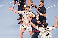 Nicolas Nieto / Mikkel Hansen - 14.05.2015 - PSG / Dunkerque - 23eme journee de D1<br /> Photo : Andre Ferreira / Icon Sport