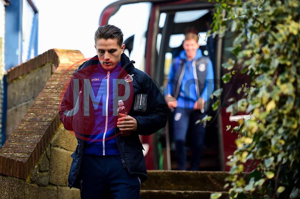 Tom Nichols of Bristol Rovers arrives at Roots Hall prior to kick off - Mandatory by-line: Ryan Hiscott/JMP - 02/02/2019 - FOOTBALL - Roots Hall - Southend-on-Sea, England - Southend United v Bristol Rovers - Sky Bet League One