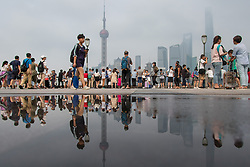 July 4, 2018 - Shanghai, Shanghai, China - Shanghai, CHINA-Scenery of the Bund after rain in Shanghai, China. (Credit Image: © SIPA Asia via ZUMA Wire)