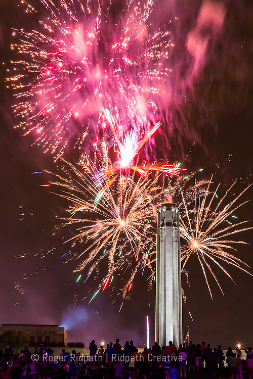 National World War I Museum and Memorial located in Kansas City, Missouri fireworks, night, Celebration at the Station