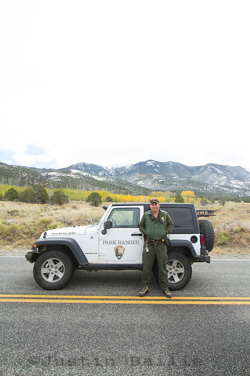 Portrait of park ranger during the 2013 government shutdown in Great Sand Dunes National Park, CO.
