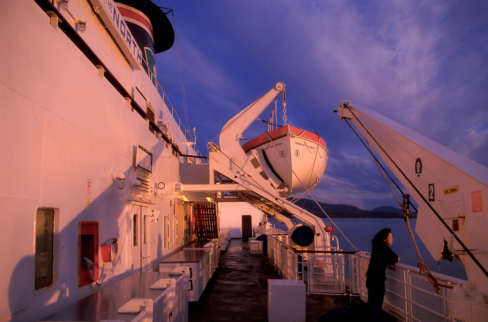 BC Ferry, Inside Passage,near Prince Rupert; British Columbia; Canada