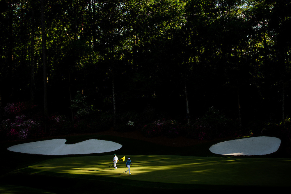 13th green, Augusta National Golf Club, 2016 Masters Tournament. Client: Sports Illustrated. Photograph ©2016 Darren Carroll