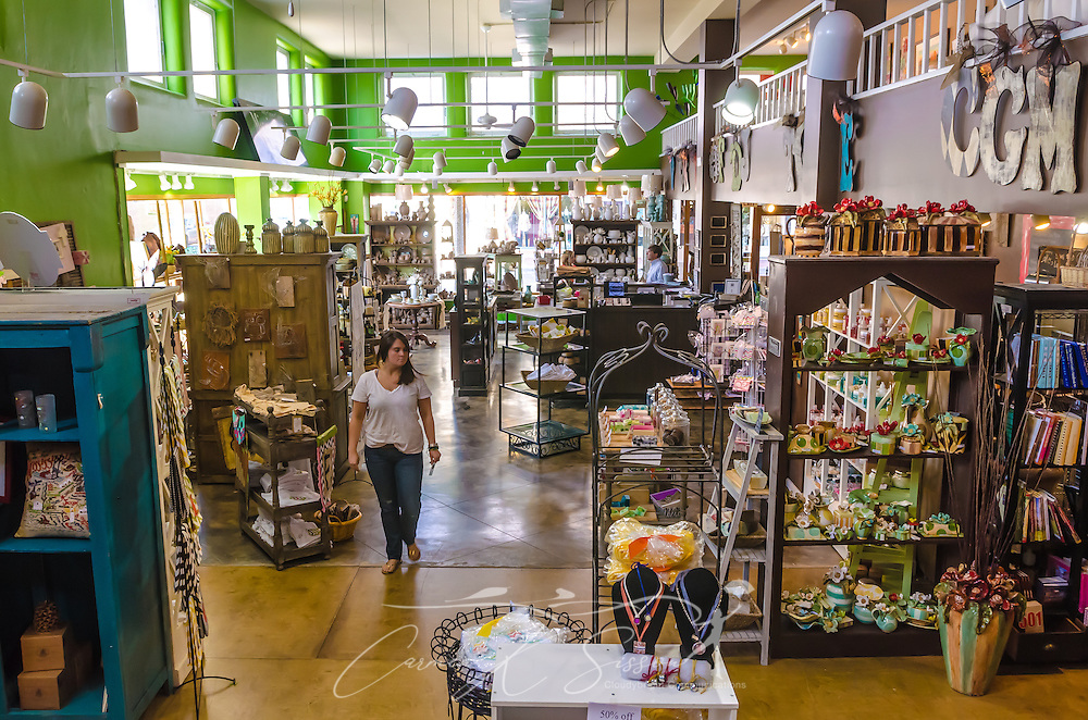 Mississippi Gift Company,sales associate Brittney Harrison walks through the store in Greenwood, Miss. (Photo by Carmen K. Sisson)
