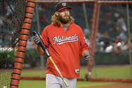PHOENIX, AZ - JULY 22:  Jayson Werth #28 of the Washington Nationals wearing Franklin batting gloves during batting practice for the MLB game against the Arizona Diamondbacks at Chase Field on July 22, 2017 in Phoenix, Arizona.  (Photo by Jennifer Stewart/Getty Images)