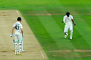 Wicket - Jofra Archer of England appeals for an lbw and celebrates taking his first test match wicket of Cameron Bancroft of Australia during the International Test Match 2019 match between England and Australia at Lord's Cricket Ground, St John's Wood, United Kingdom on 16 August 2019.