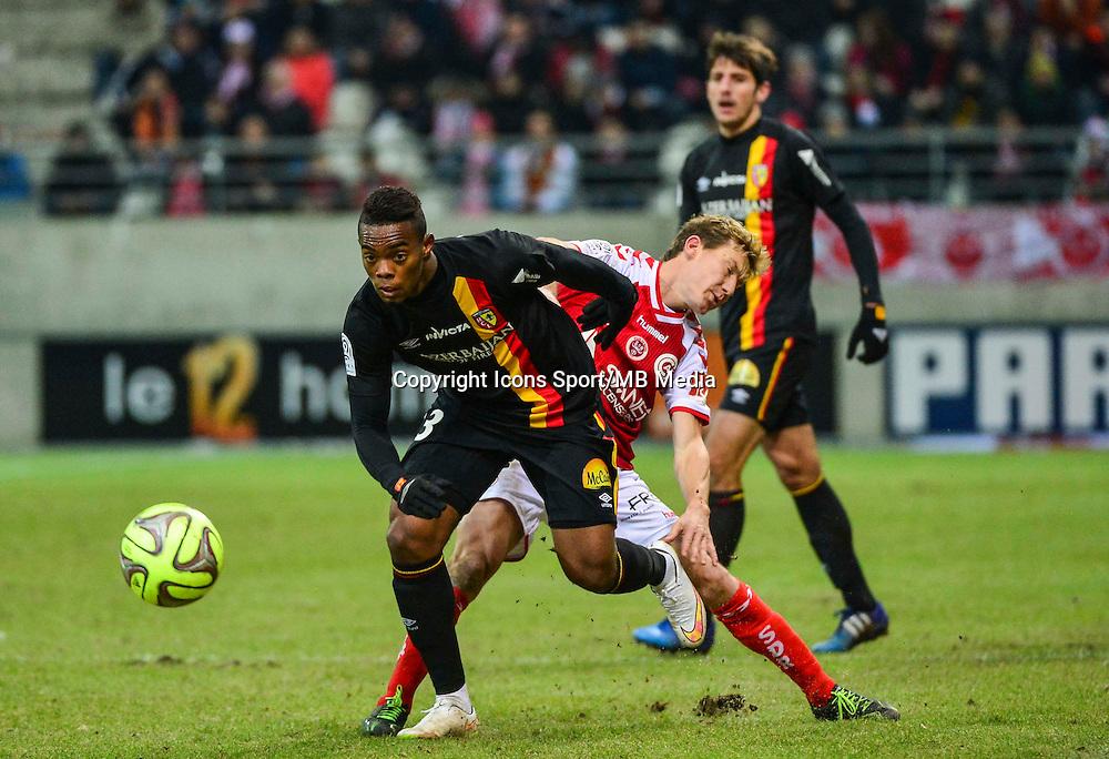 Wylan CYPRIEN / Franck SIGNORINO - 25.01.2015 - Reims / Lens  - 22eme journee de Ligue1<br /> Photo : Dave Winter / Icon Sport *** Local Caption ***