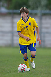 FLINT, WALES - Thursday, May 12, 2011: Sweden's Arber Zeneli in action against Wales during the Men's Under-17's International Friendly match at Cae-y-Castell. (Photo by David Rawcliffe/Propaganda)