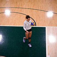 4th year outside hitter Ashlee Sandiford (1) of the Regina Cougars in action during Women's Volleyball home game on November 3 at Centre for Kinesiology, Health and Sport. Credit: Arthur Ward/Arthur Images