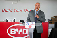 Electric bus manufacturer BYD in Los Angeles.