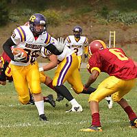 (l) riordan #88 - kyle craig (r) lincoln #6 - demetrius williams Riordan v. Lincoln football - 091212