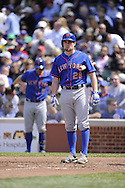 CHICAGO - MAY 17:  Daniel Murphy #28 of the New York Mets looks on against the Chicago Cubs on May 17, 2013 at Wrigley Field in Chicago, Illinois.  The Mets defeated the Cubs 3-2.  (Photo by Ron Vesely/MLB Photos via Getty Images)  *** Local Caption *** Daniel Murphy