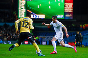 Leeds United midfielder Jack Harrison (22), on loan from Manchester City,  during the EFL Sky Bet Championship match between Leeds United and Millwall at Elland Road, Leeds, England on 28 January 2020.