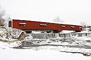 63904-03403 Bridgeton Covered Bridge in winter at Bridgeton, IN