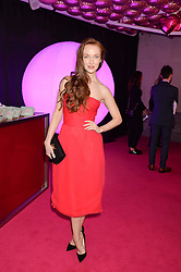 OLIVIA GRANT at The Naked Heart Foundation's Fabulous Fund Fair hosted by Natalia Vodianova and Karlie Kloss at Old Billingsgate Market, 1 Old Billingsgate Walk, London on 20th February 2016.