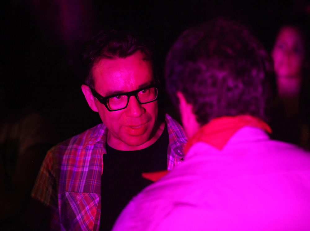 Fred Armisen backstage during Neko Case's set. Pickathon Music Festival in Happy Valley, Ore., August 4th and 5th, 2012.