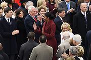 First Lady Michelle Obama arrives for the 68th President Inaugural Ceremony on Capitol Hill January 20, 2017 in Washington, DC. Donald Trump became the 45th President of the United States in the ceremony.