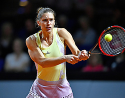 20.04.2016, Porsche Arena, Stuttgart, GER, WTA Tour, Porsche Tennis Grand Prix Stuttgart, im Bild Andrea PETKOVIC (GER) Aktion // during Porsche Tennis Grand Prix of the WTA Tour at the Porsche Arena in Stuttgart, Germany on 2016/04/20. EXPA Pictures © 2016, PhotoCredit: EXPA/ Eibner-Pressefoto/ Weber<br /> <br /> *****ATTENTION - OUT of GER*****