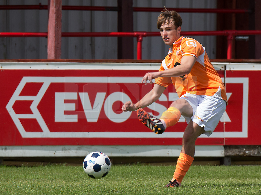 © Licensed to London News Pictures . 02/08/2015 . Droylsden Football Club , Manchester , UK . NICO MIRALLEGRO . Celebrity football match in aid of Once Upon a Smile and Debra , featuring teams of soap stars . Photo credit : Joel Goodman/LNP