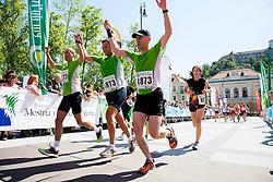 Igor E. Bergant at finish line during running race 12 km and 29 km Tek trojk et event Pot ob zici, on May 10, 2014, at Kongresni trg in Ljubljana, Slovenia. Photo by Vid Ponikvar / Sportida