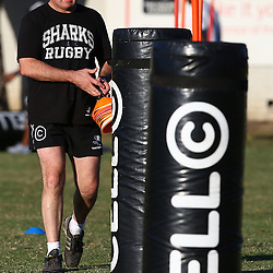 DURBAN, SOUTH AFRICA - JULY 27: Gary Gold (Sharks Director of Rugby) during the Cell C Sharks training session at Growthpoint Kings Park on July 27, 2015 in Durban, South Africa. (Photo by Steve Haag)