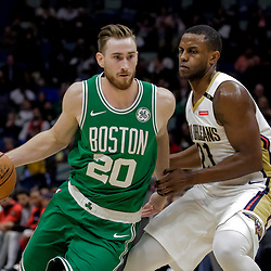 Nov 26, 2018; New Orleans, LA, USA; Boston Celtics forward Gordon Hayward (20) drives past New Orleans Pelicans forward Darius Miller (21) during the second half at the Smoothie King Center. Mandatory Credit: Derick E. Hingle-USA TODAY Sports
