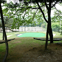 "PANMUNJOM, MAY-16: a view of  the ""world's most dangerous"" golf course in the DMZ, Korea."